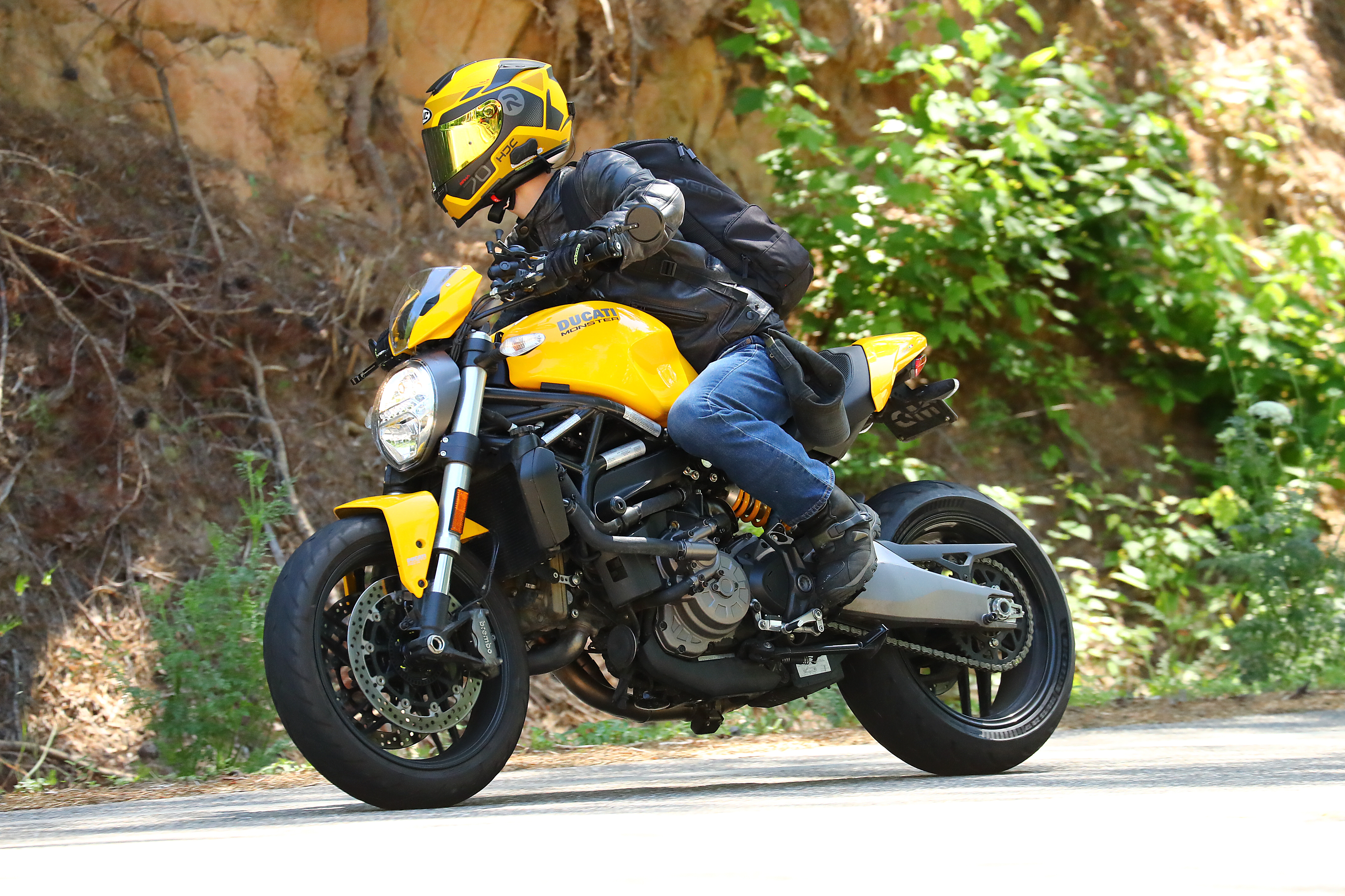 Yellow 2018 Ducati Monster 821 Motorcycle